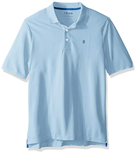 (IZOD Men's Big and Tall Advantage Performance Short Sleeve Solid Polo Shirt, Placid Blue, 3X-Large Big )