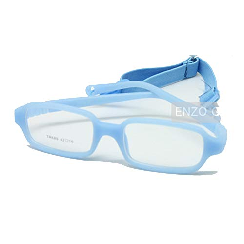 - EnzoDate Baby Girl's Boy's Glasses with Cord Size 42/16,Infant Glasses Frame(blue)