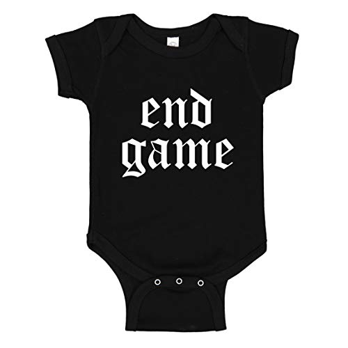 Baby Romper End Game Black for Newborn Infant Bodysuit