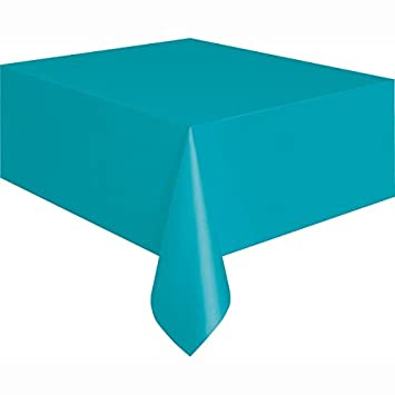 Wonderful Teal Plastic Tablecloth, 108u0026quot; ...