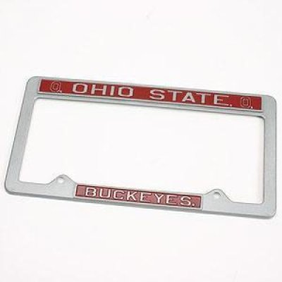 Ohio State Buckeyes Metal License Plate  - Pewter License Plate Shopping Results