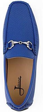 Royal blue mens loafers _image4