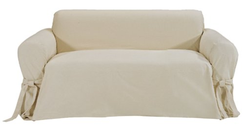 Classic Slipcovers Brushed Twill Loveseat Slipcover, Natural