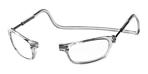 CliC Adjustable Front Connect Reader, 2.50 Strength, Clear - Glasses Reading Clear Frames