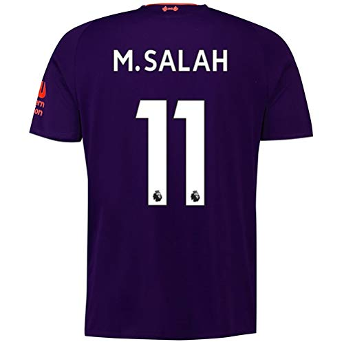 Mens Away Jersey - 2018-2019 Liverpool Away Mens #11 M Salah Socce Jersey Color Purple Size S
