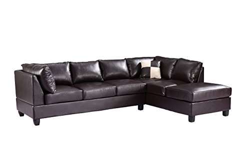 Glory Furniture G645-SC Sectional Sofa, Cappuccino, 2 boxes