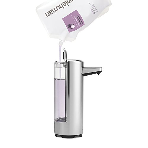 Simplehuman 8 oz sensor pump with soap sample brushed nickel import it all - Brushed nickel soap dispenser pump ...
