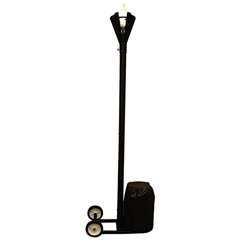 ble Tiki Torch, Landscape Torch, Gas Torch,Propane Torch, LP Torch (Fin Style) (Gas Tiki Torch Light)