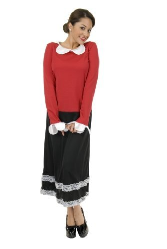 Women Small (5-7) Olive Womens Costume for Sailor Fun! (Olive Oyl Fancy Dress)