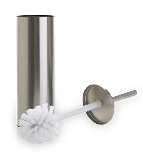 BINO 'Mona' Toilet Brush & Holder with Removable Drip Cup, Brushed Nickel by BINO