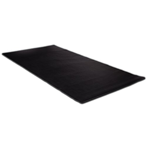 KAZAIRA Extended Gaming Mouse Pad (3XL) with Anti-Fray Stitched Edges - 48'' x 24'' - Black by KAZAIRA