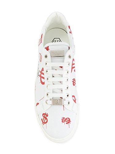 Philipp Plein Herren Msc1049ple075n01 Weiss Leder Sneakers
