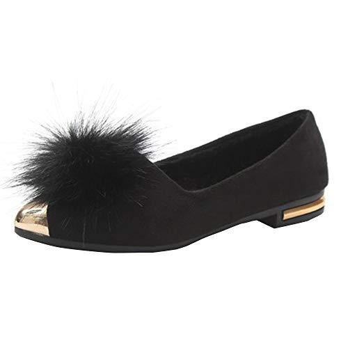 Basse Bocca scarpa Peluche Moda Vovotrade in Superficiale pi a Inverno delle Donne Donna Scarpe e Autunno casa Stivali Punta gq5pwwE