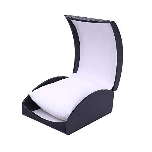 (Wffo Watch Jewelry Present Gift Box, Delicate Plastic Cardboard Bangle Bracelet Wrist Box (Black))