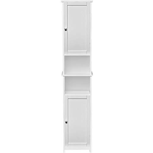 EVIDECO 9901313-9950100 Custom DIY Bathroom Tower Linen Cabinet-2 Doors-Diamond Handle, ()