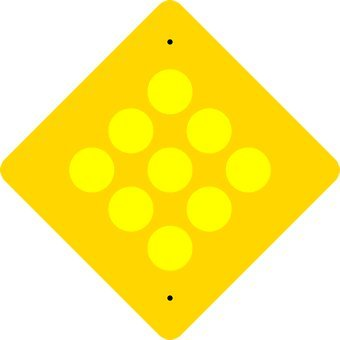 (Yellow Reflector Warning Signs - 18x18)