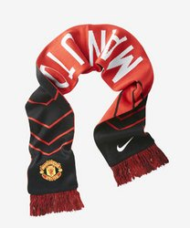 Manchester United Supporter (Nike Manchester United MANU Supporters Scarf Black/Diablo Red/White 619317-010)