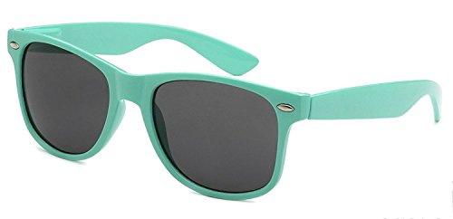 I's Colour Retro Rewind Women Men Daily Vintage Classic Fashion Polycarbonate Lens Sunglasses, - Sunglasses Teal Wayfarer