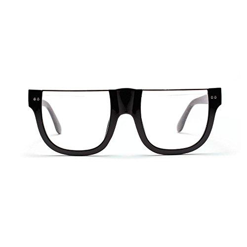 TL Sunglasses gafas sol de de cuadrado de hombres normal marco gafas medio sombras mujer para marco gafas de enormes Gafas verde sol grande personalidad Verde rrdqtwnx4z