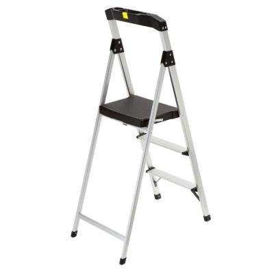 Gorilla Ladders 3-Step Aluminum Step Stool Ladder with 225 lb. Type II Duty Rating