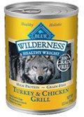 Cheap Blue Buffalo Wilderness Adult Healthy Weight Grain Free – Turkey & Chicken – 12.5 oz, 1 Can