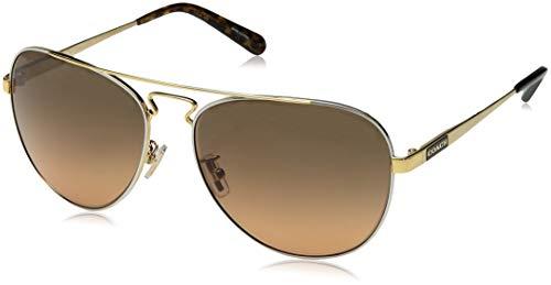 COACH Women's 0HC7069 Gold Silver/Dark Tortoise Gold Signature C/Grey/Orange Gradient One Size