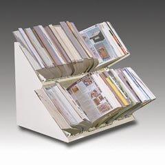 Master Double Deck Catalog Rack, Gray (MATDD60G)