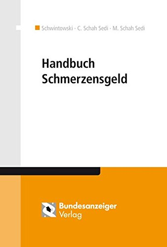 Handbuch Schmerzensgeld: Taggenaue Schmerzensgeldbemessung * Schmerzensgeldtabelle * Arbeitshilfen * Musterfälle