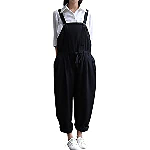 Hulaha Womens Girls Plus Size Baggy Overalls Drawstring Jumpsuits