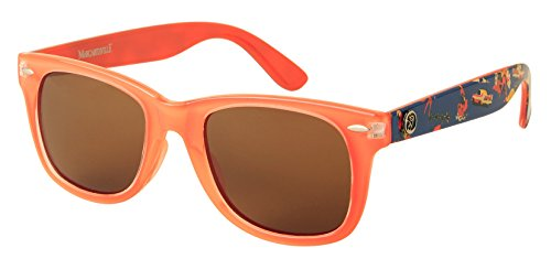 Horn Coral (Margaritaville Havana Horn Rimmed Square Polarized Wayfarer Sunglasses, Coral, 57 mm)