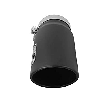 "aFe Power 49T50601-B12 5"" Inlet x 6"" Outlet x 12"" Length Black Stainless Steel Bolt-On Diesel Exhaust Tip: Automotive"