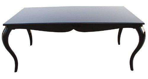 Esstisch schwarz  Barock Esstisch Schwarz Hochglanz 180cm - Esszimmer Tisch: Amazon ...