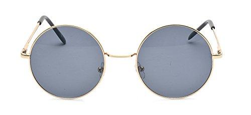 fdb98876ff ALWAYSUV Classic Round Circle Mirrored Lens Thin Frame John Lennon  Sunglasses Eyewear