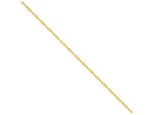 Finejewelers 18 Inch 14k Yellow Gold 2mm Singapore Chain Necklace