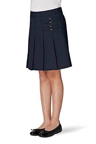Uniform School (French Toast Little Girls' Two-tab Pleated Scooter, Navy, 6)