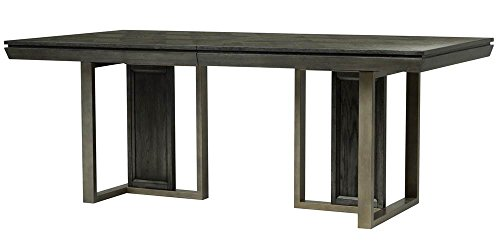 Magnussen Proximity Heights Double Pedestal Table in Smoke Anthracite