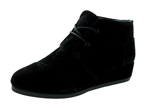 Girl's Toms 'Desert - Youth' Wedge Bootie, Size 3.5 M - Blac