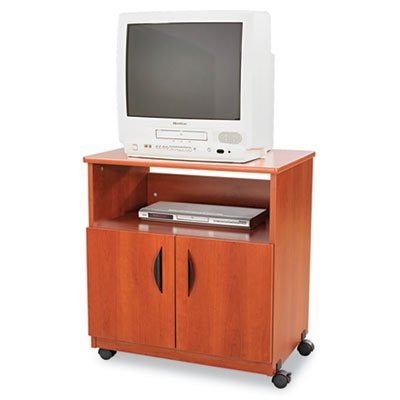 Laminate Machine Stand w/Open Compartment, 28w x 19-3/4d x 30-1/2h, Cherry, Sold as 1 Each by Safco