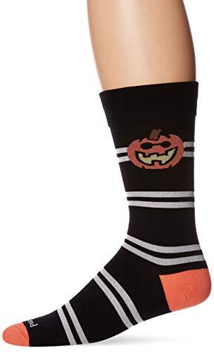 Life is Good Men's Crew Socks, One Size, Pumpkin Black (Pumpkin Socks)