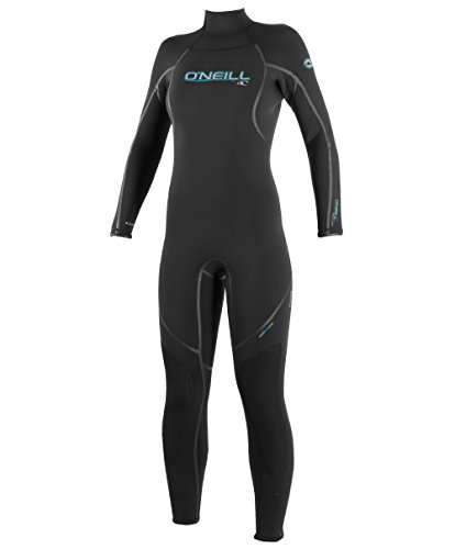 O'Neill Women's Dive Sector 7mm Back Zip Full Wetsuit, Black, 8