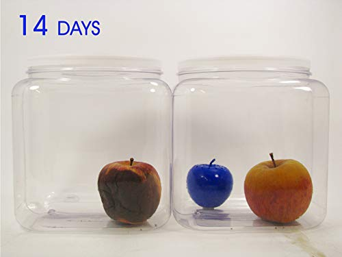 Bluapple Produce Freshness Saver Balls With Carbon - Extend Life Of Fruits And Vegetables by Absorbing Ethylene Gas - Keeps Produce Fresher Longer And Also Absorbs Odors From The Refrigerato