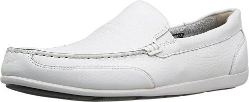 Rockport Men's Bennett Lane 4 Venetian Loafer,White Leather,US 10.5 M (Rockport White Shoes)