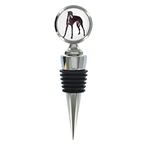 Greyhound Dog Image Design Metal Wine Bottle Stopper