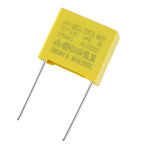 uxcell Safety Capacitors Polypropylene Film 0.047uF 275VAC X2 MKP 10 Pcs (Metal Polypropylene Capacitors)