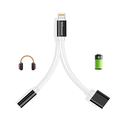 Lightning Adapter For Iphone 7   7 Plus  Lightning To 3 5Mm Headphone Jack Adapter And Charger