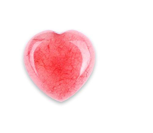Agate Stone Semi Precious (Rose Agate Carved Heart Rock)
