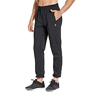 BALEAF Men's Fleece Joggers Running Sports Athletic Pants Pocketed Sweatpants Open-Bottom/Tapered