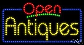 15H x 27W x 1D Rectangle Electronic Light Up Sign for Business LED Antiques Open Sign for Business Displays