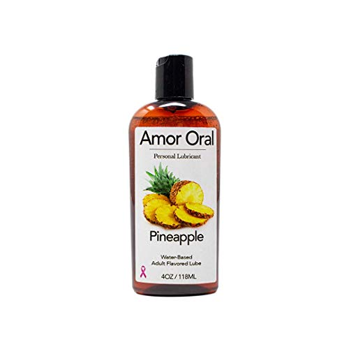 Pineapple Flavored Lube - Edible Personal Lubricant - 4 oz - Edible and Organic - Great for Both Men and Women