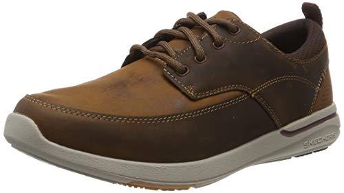 Skechers Men's ELENT-Leven Boat Shoe, CDB, 10.5 Medium US (The Best Boat Shoes 2019)